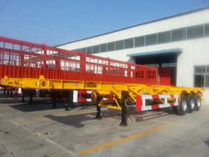tri axle skeletal semi trailer for sale