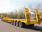 low bed trailer with prime mover