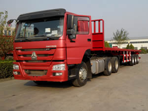 tri axle flatbed trailers for sale