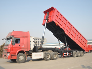 tri axle end dump trailer for sale
