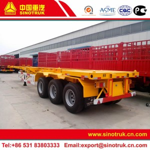 shipping container transport truck