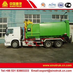 hook lift garbage truck